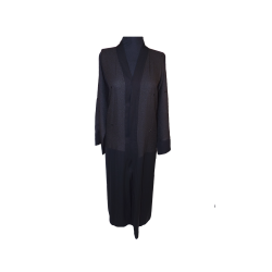 Womens long double shaded scattered sequined boxes abaya