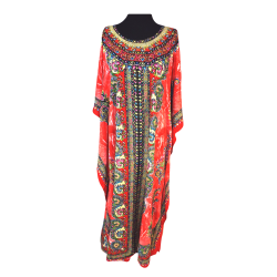 Womens Noorani Long Short Sleeved Kaftan