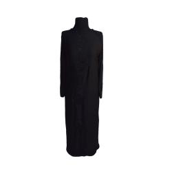 Womens Long Sequined Embroidered Abaya